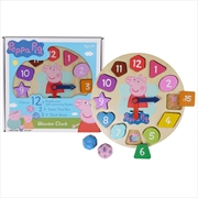 Peppa Pig: Wooden Clock
