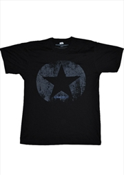 Distressed Star Black Male S | Merchandise