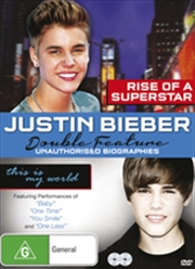 Justin Bieber Double Unauthorised Biographies   DVD
