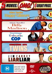 Happy Gilmore / Billy Madison / Kindergarten Cop / Twins / Liar Liar | DVD