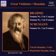 Brahms: Violin Sonatas Nos 1 & 3/Schumann: Violin Sonata No 2