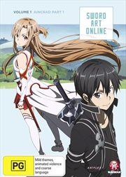 Sword Art Online - Aincrad - Vol 1 - Part 1 - Eps 1-7 | DVD