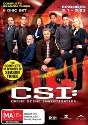CSI: Crime Scene Investigation - Season 03