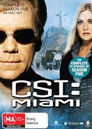 CSI: Miami - Season 05 | DVD