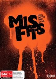 Misfits - Series 1-4 | Boxset | DVD