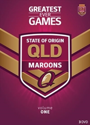 NRL: State Of Origin: Greatest Ever Games: Queensland | DVD