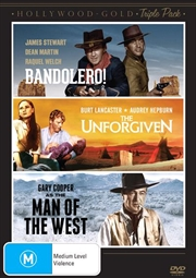 Hollywood Gold - Western - Bandolero /The Unforgiven / Man Of The West | Triple Pack