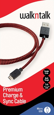 Charge Sync Cable Micro USB Red
