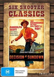 Decision At Sundown Six Shooter Classics | DVD