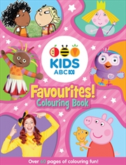 ABC KIDS Favourites Colouring Book Pink