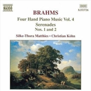 Brahms: 4 Hand Piano Music Vol 4 | CD