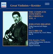 Complete Concerto Recordings Vol 4 - Brahms/Bruch | CD