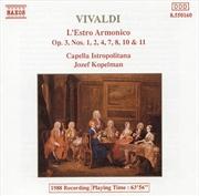 Vivaldi:Lestro Armonico Op 3   CD