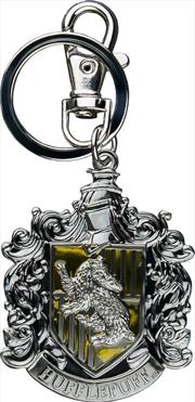 Hufflepuff Logo Metal Keychain
