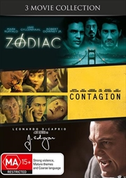 Zodiac / J. Edgar / Contagion