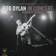 Bob Dylan In Concert- Brandeis University 1963 | CD