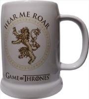 Game Of Thrones: Lannister Ceramic Stein