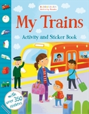 My Trains Activity And Sticker | Paperback Book