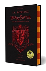 Harry Potter & The Philosophers Stone Black Gryffindor Cover