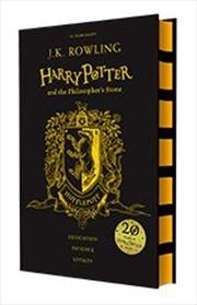 Harry Potter & The Philosophers Stone Black Hufflepuff Cover