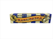 Harmonica Blue/White Stripe