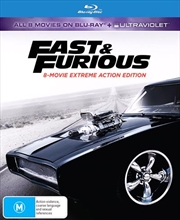 Fast and Furious | UV - 8 Movie Franchise - DigiPack