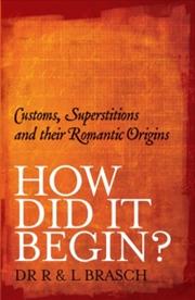 How Did It Begin | Books