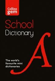 Collins Gem School Dictionary | Paperback Book