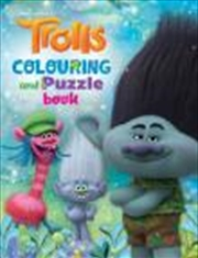 Trolls Colouring Puzzle Book