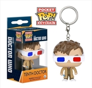 10th Doctor 3D Glasses Pop Keychain