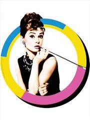 Audrey Hepburn Circle Chunky Magnet