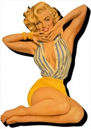 Marilyn Monroe Pin Up Chunky Magnet