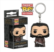 Game of Thrones - Jon Snow Pocket Pop! Keychain | Accessories