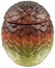 Dragon Egg Ceremic Jar Drogon (Red)