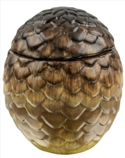 Game Of Thrones: Dragon Egg Ceramic Jar Viserion (Tan)