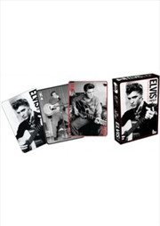Elvis Black & White Playing Cards