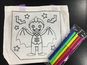 Colour Your Own Canvas Halloween Bag