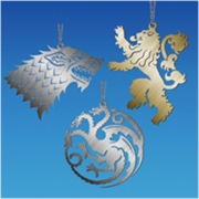 "Game Of Thrones Assorted Christmas 4"" Metal Sigil"