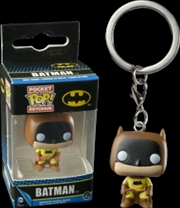 Batman 75th Anniversary Yellow Pop Keychain | Accessories