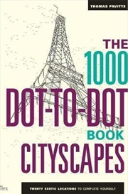 1000 Dot To Dot Book: Cityscap | Paperback Book