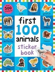 First 100 Animals Sticker Book | Paperback Book