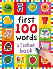 First 100 Words Sticker Book | Paperback Book