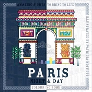 Paris Night and Day Colouring Book | Paperback Book