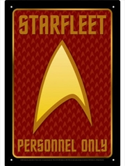 Star Trek Authorized Personnel Tin Sign