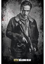 The Walking Dead Rick B&W