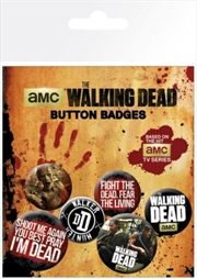 The Walking Dead Phrases Badge 6 Pack