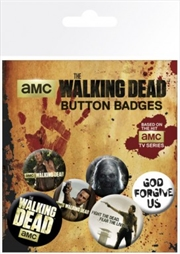 The Walking Dead Badge 6 Pack