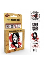 Coasters 4pkThe Walking Dead Daryl (Set of 4 cork based drinks coasters)