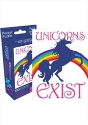 Unicorns Exist 100pc Pocket Puzzle