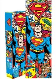 Superman Retro 1000pc Slim Puzzle | Merchandise